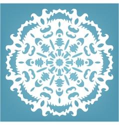 Decorative snowflake Christmas lace ornament vector