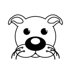 dog mascot cartoon isolated icon vector image