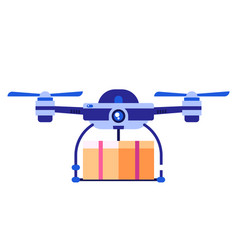 drone carrying cupboard vector image