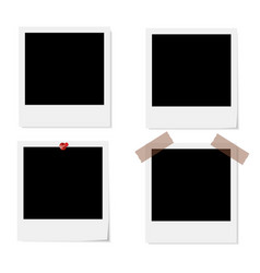 Empty photo frames vector