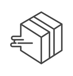 fast box delivery icon outline style vector image