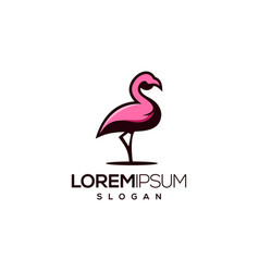 flamingo logo design vector image