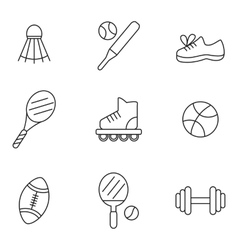 Flat Line Medical Icons vector image