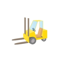 Forklift truck icon cartoon style vector image