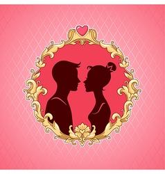 Frame barocco couple vector image