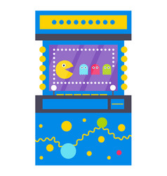 game machine with characters 8 bit arcade playing vector image