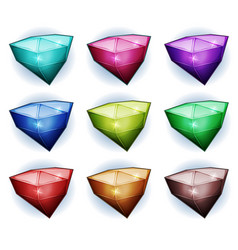 gemstones icons vector image