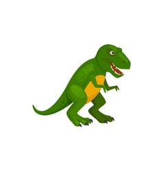 Green dinosaur isolated childish brontosaurus dino vector