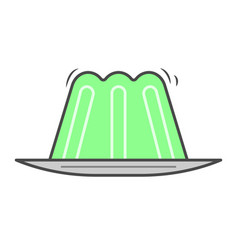 Green jelly isolated icon vector