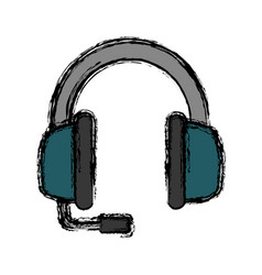 headphones icon image vector image