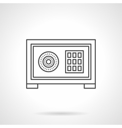 Home safe box flat line icon vector