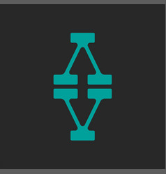 Initials va or av logo monogram design typography vector