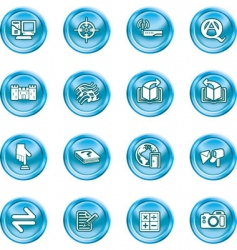 internet or computing icon set vector image