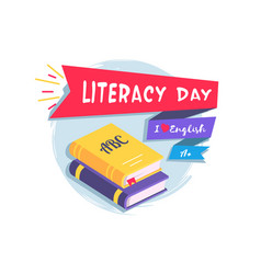 Literacy day colorful vector