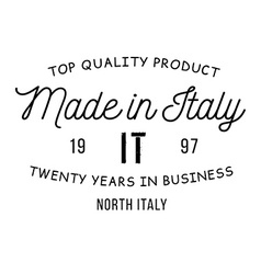Made in Italy stamp vector image