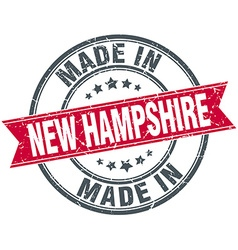 Made in new hampshire red round vintage stamp vector