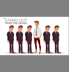 man stand out from the crowd business vector image
