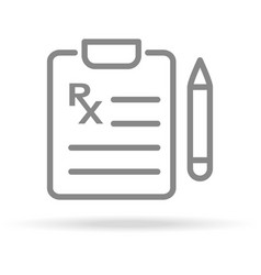 medical prescription icon in trendy thin line vector image