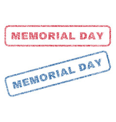 memorial day textile stamps vector image