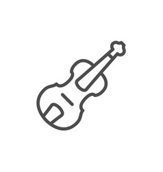musical instrument violin line outline icon vector image