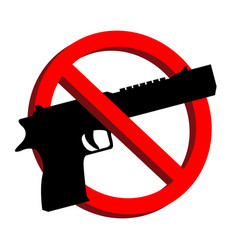 no guns allowed prohibition signs eps10 vector image