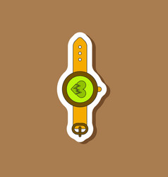 Paper sticker on stylish background sports watches vector
