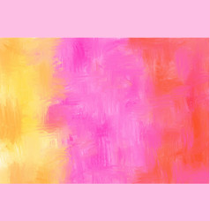 pink and yellow abstract hand painted background vector image