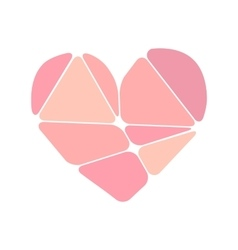 pink heart symbol made up abstract forms vector image