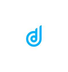 pixel letter d logo icon design vector image