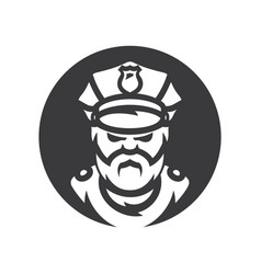 policeman silhouette sign vector image