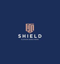 pq shield logo vector image