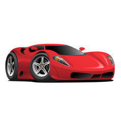 Red hot european style sports-car cartoon vector