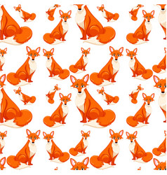 seamless of red fox vector image