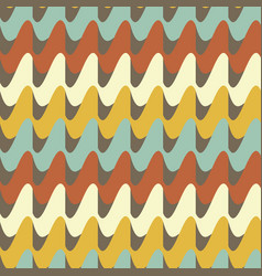 Seamless retro 70s pattern vector