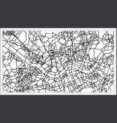 seoul korea city map in black and white color vector image
