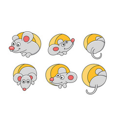 set mouses vector image