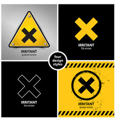 set of harmful irritant chemical hazard symbols vector image
