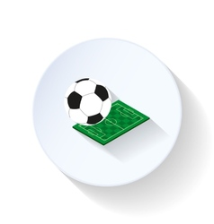 Soccer field and ball flat icon vector image