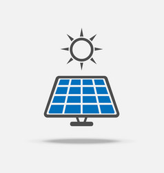 solar cell logo and icon power and energy saving vector image
