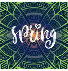 spring handwritting typography icon modern vector image