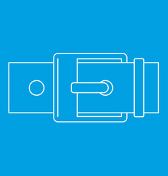 Square buckle icon outline style vector