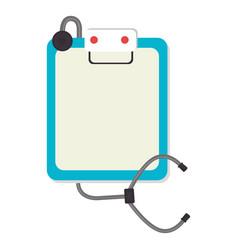 stethoscope medical isolated icon vector image