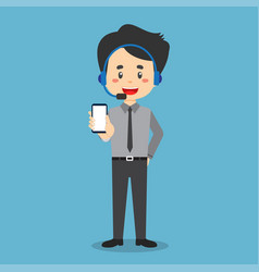 Stock call center hold phone vector