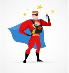 superhero daddy superhero costume bacarrier vector image