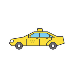 taxi line icon concept taxi flat sign vector image