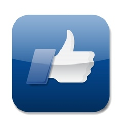 Thumbs up icon - like button vector image