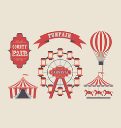 Town carnaval flat vector