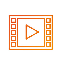video player button app internet media vector image