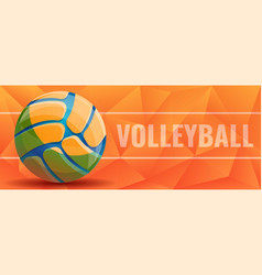volleyball concept banner cartoon style vector image