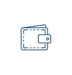 wallet casefinance line icon concept wallet case vector image